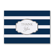 Stylish Stripes - Thank You Card